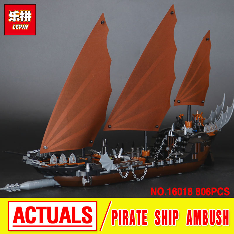 New Lepin 16018 Genuine The lord of rings Series The Ghost Pirate Ship Set  Building Block Brick Toys 79008 Educational Toy Gift lepin movie series ghost pirate ship 16018 756pcs building block for children toys 79008 compatible legoe pirate ship