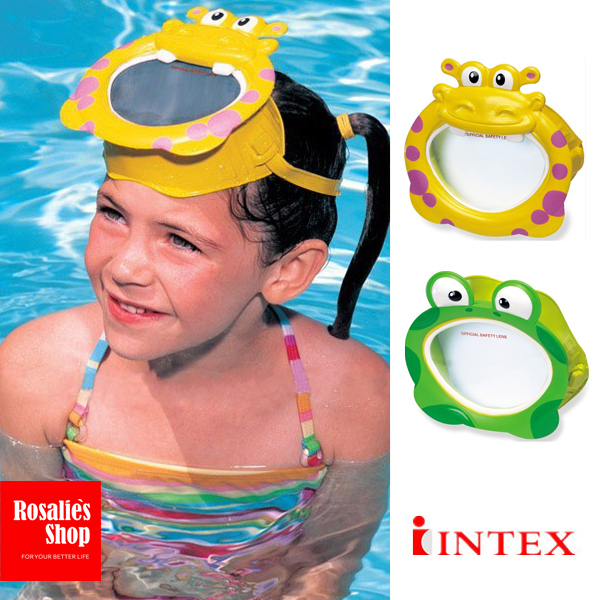 3f5aa06eaa1a Cartoon animal Swim mask Frog Hippopotamus style Swimming Goggles Diving  masks water toys for Children kids