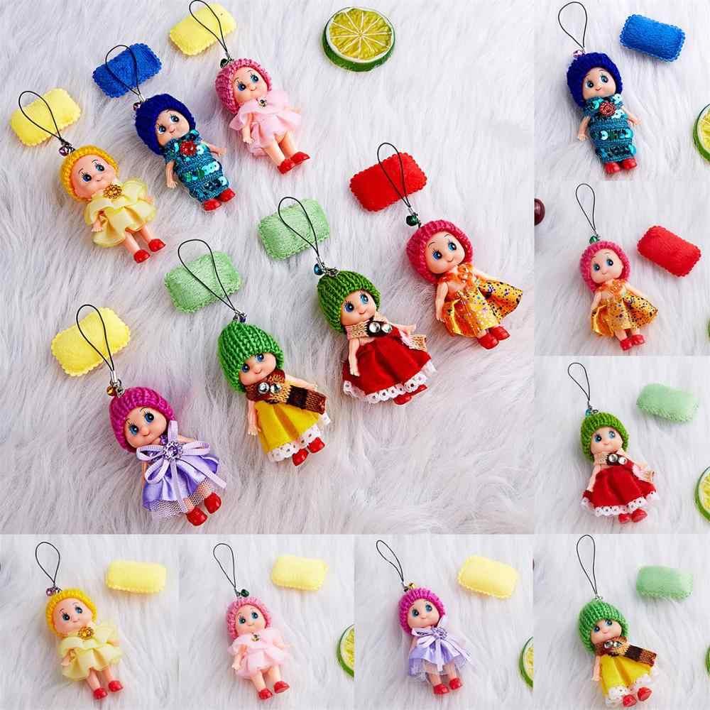 4/5 sztuk/zestaw losowe dostawy brelok do kluczy Cute Cartoon kolorowe wisiorek kapelusz Clown lalki mały pluszak zwierząt brelok do kluczy