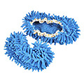 SCYL 2 Pares Confortável Capa de Poeira Mop Chinelos Sapatos Floor Cleaner-Azul