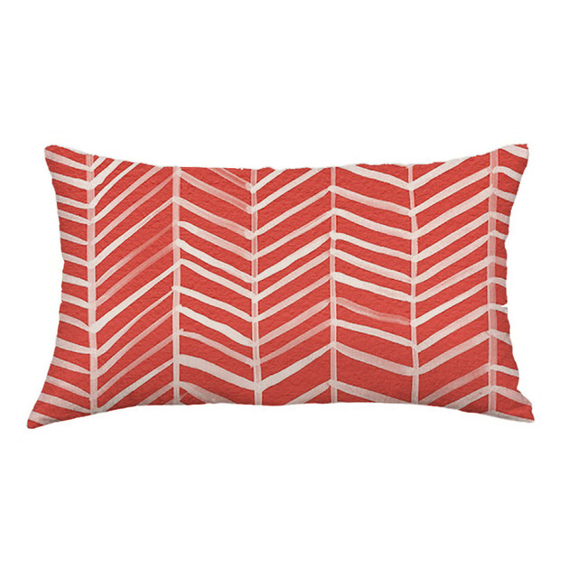 Rectangular Geometric Patterned Cushion Cover