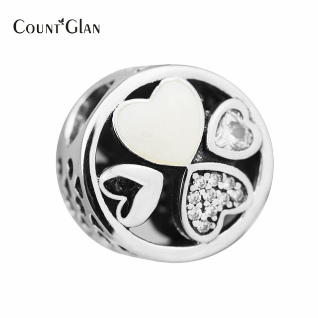 Fits Original Brand Bracelets Heart of Love Charms Bead 925 Sterling Silver Heart Beads For DIY 2017 Mothers Day Gifts Jewelry