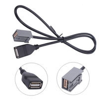 AUX USB Cable Adapter Extension Wire For Honda Mitsubishi 2009 Onward Audio Media Music Interface Car