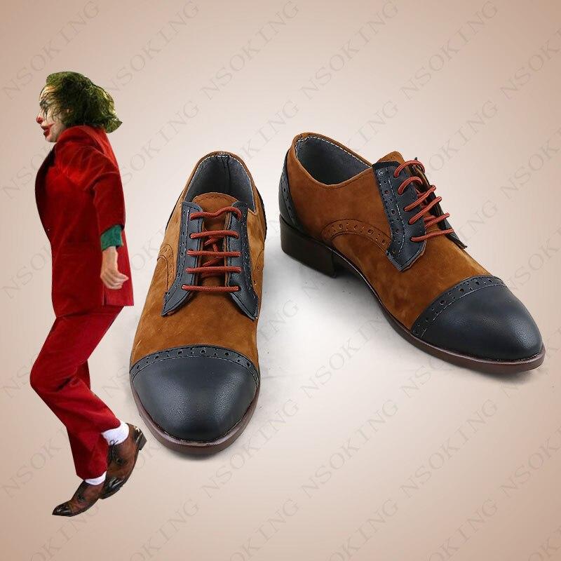 2019 New Film Batman JOKER Joaquin Phoenix Cosplay Anime Boots Shoes Custom-made