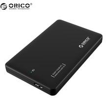 ORICO 2599US3-V1 2.5-дюймовый SATA к USB 3.0 внешний корпус, инструмент, USB 3.0 SuperSpeed HDD чехол/Caddy/коробка (не с HDD)