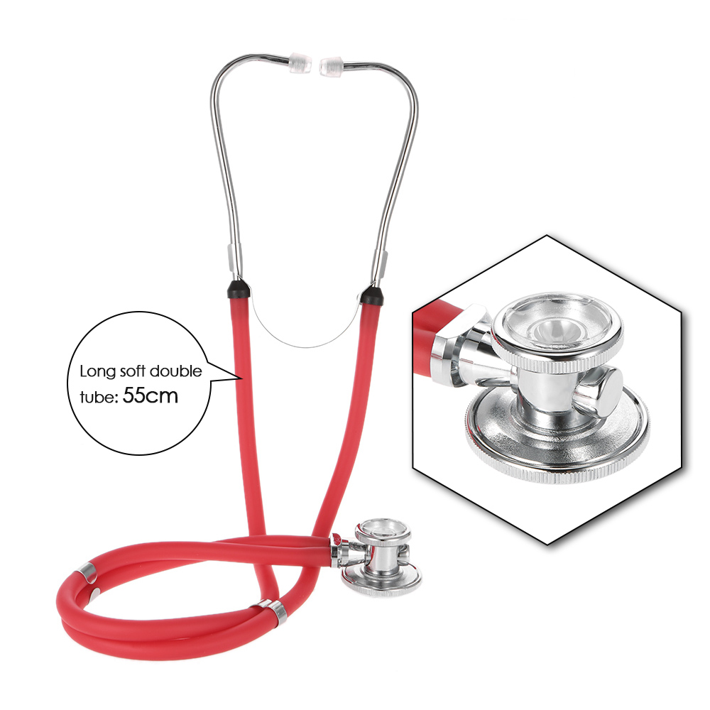 Double Dual Head Medical Stethoscope Health Care Professional Multifunctional Long Soft Tube Stethoscope Estetoscopio Tool fluorescent orange multifunction dual headed professional new medical clinical classic doctor stethoscope