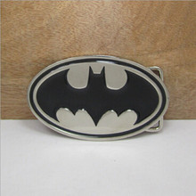 Retail 2016 New Style Film Batman Superman Belt Buckle With 102*61mm Oval Silver Black Metal Fashion Man Woman Jeans Accessories