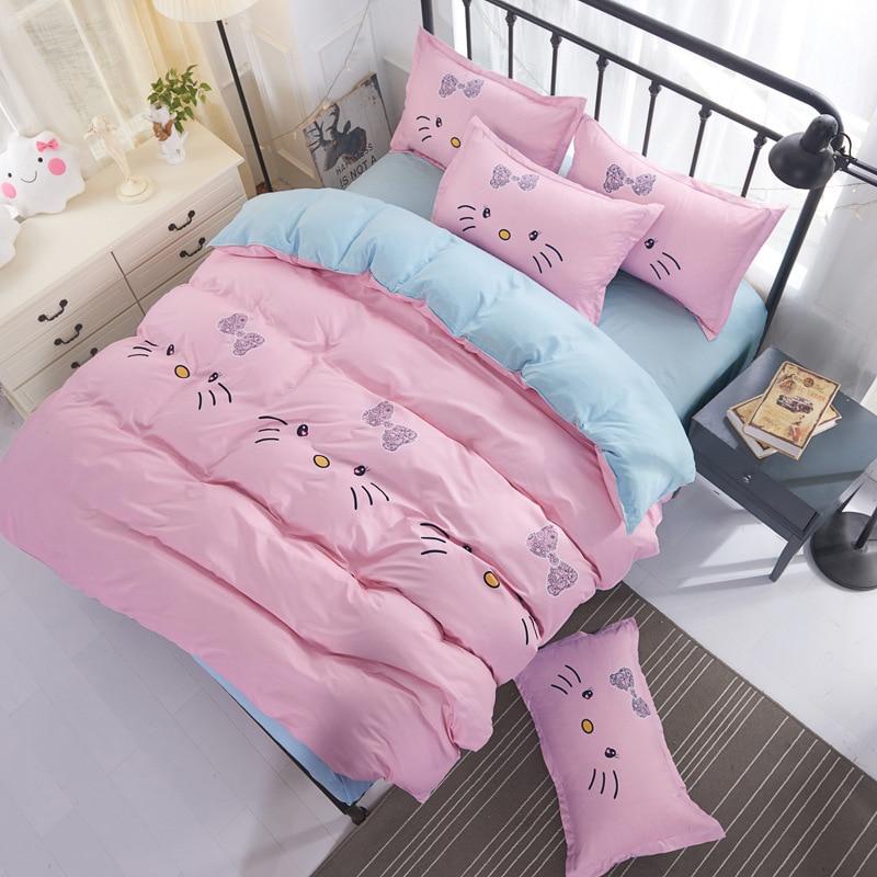 Queen Double Winter Warm Soft Comfortable Solid Flower Bedding Set 3pcs 4pcs Bedlinens 1.5m 1.8m 2.0m 2.2m Bed Sheet Duvet Cover