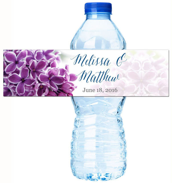 Customized Flower Stickers Personalized Water Bottle Labels Wedding Favors Gifts Tags Personalised Candy