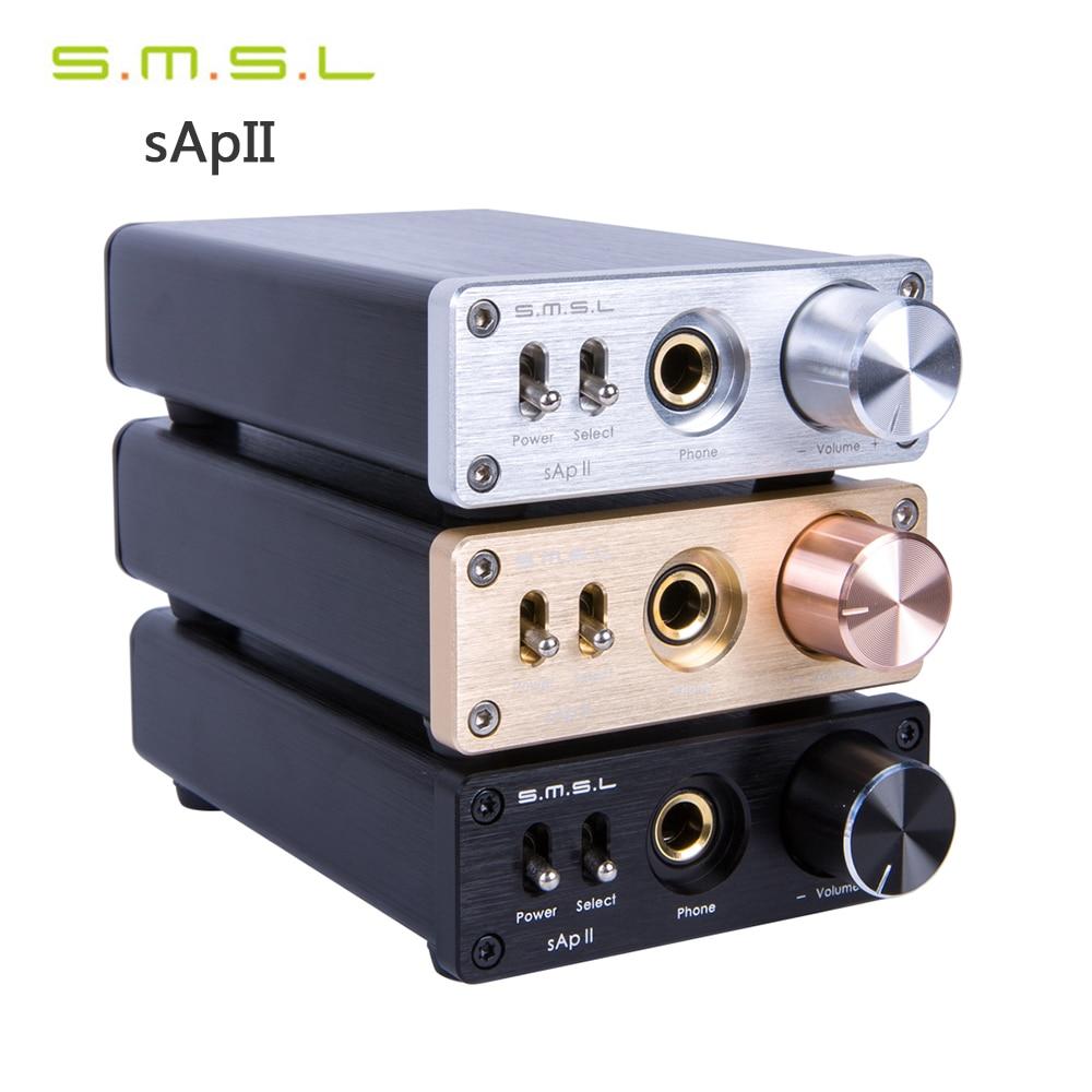 цена на SMSL sApII Pro TPA6120A2 High Fidelity Hifi Stereo Headphone Amplifier Big Power Headset AMP Amplificador de fone de ouvido