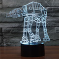 Star Wars atat 3D Night Light Touch Switch Acrylic 7 Colour Gradient Novelty Lighting Table lamp Home Decor 7colors
