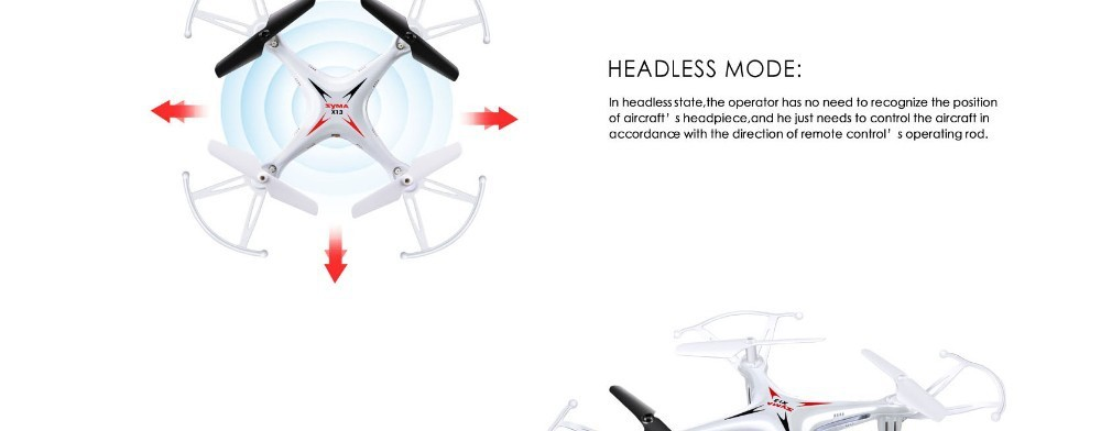 8 2015 New Arrival Syma X13 RC Mini Drone Helicopter  2.4G 4CH 6-Axis Quadcopter With 3D Flips Remote Control Toy