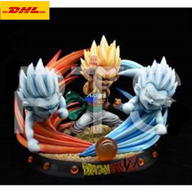 7 Statue Dragon Ball Bust Super Saiyan Full Length Portrait Gotenks SD Trunks Son Goten GK Action Figure Toy BOX 18CM Z1095