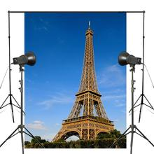 150x220cm Blue Sky Photography Background Paris Eiffel Tower Backdrop Studio