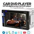 """6.2 """"polegadas Car DVD Player 2DIN Tela Sensível Ao Toque Bluetooth Mãos de Telefone Sem Fio livre 12 V Rádio FM MP3 MP4 VCD CD De Áudio De Vídeo USB SD"""