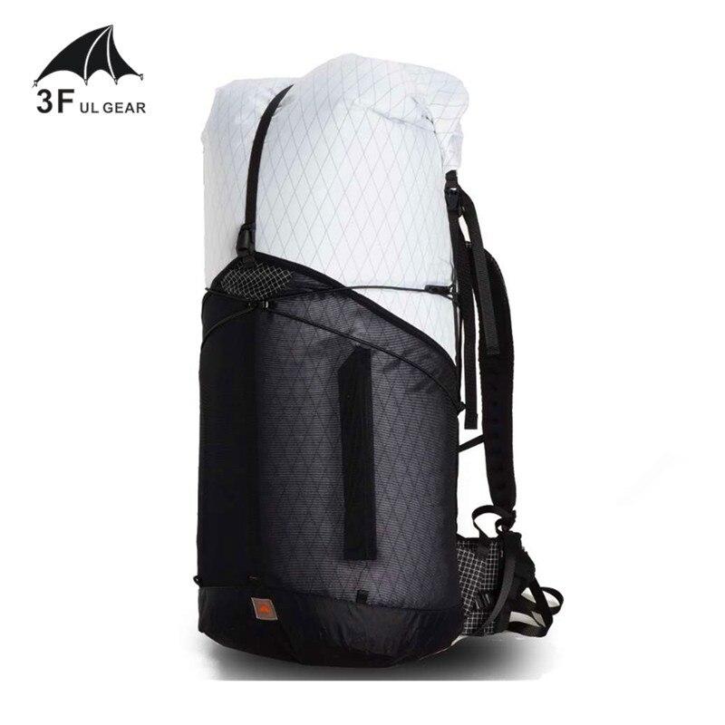 3F UL GEAR sac à dos GuiJi 55L XPAC léger Durable voyage Camping randonnée sac à dos extérieur ultra-léger sans cadre Packs sacs