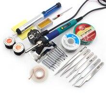 220V/110V 60W Electrical Soldering Iron Rework Welding Gun Tool Adjustable Temperature Soldering Station Solder Tip cxg 936d
