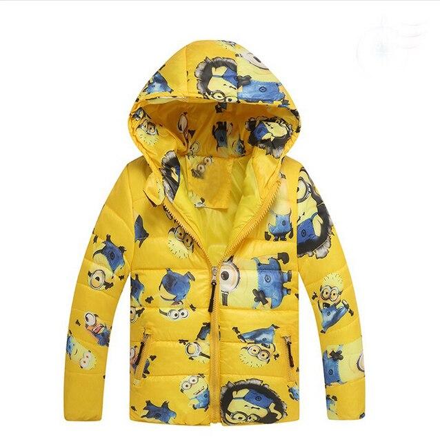 Boys Jacket&Outwear Minion Cartoon Warm hooded Winter jackets for boy Girls coat Children Winter Clothing Sale Boys Coat
