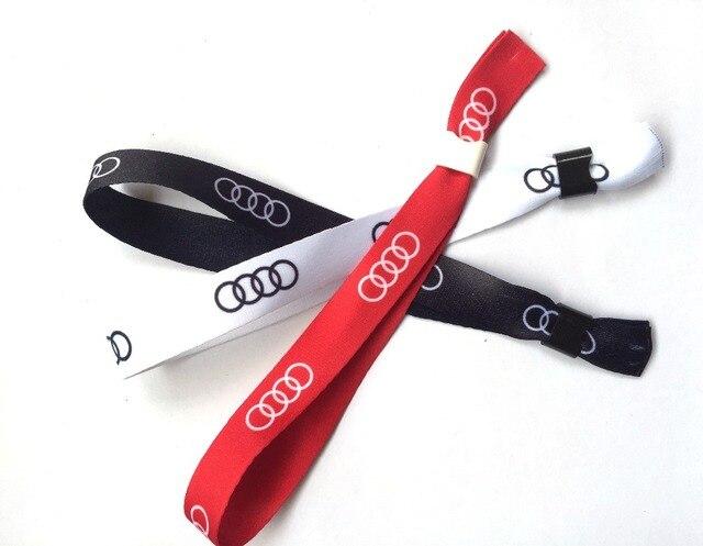 Promozionale Personalizzato su misura sublimazione Tessuto RFID wristband  Bracciali one,off raso wristband con logo