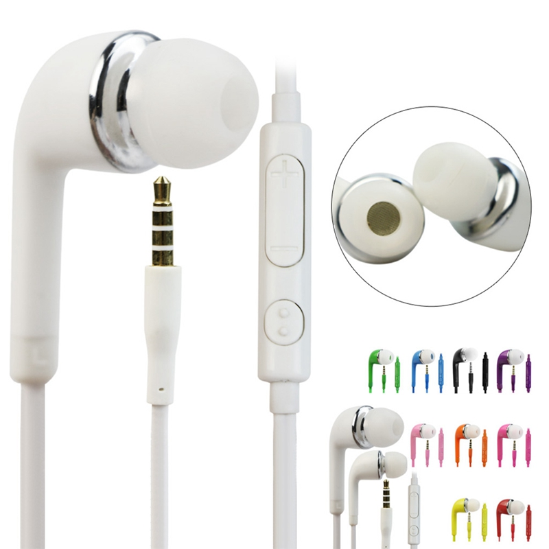 In-Ear Earphone Stereo Earbud Mic for Samsung Galaxy S5 S4 S3 Note 4 3 s6 3 5mm in ear earphones headset with mic volume control remote control for samsung galaxy s5 s4 s7 s6 note 5 4 3 xiaomi 2