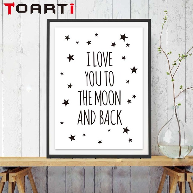 Nordic Love You Quote Inspirational Quote Canvas Painting Art Print Poster Nursery Wall Picture Kids Baby Room Decor No Frame