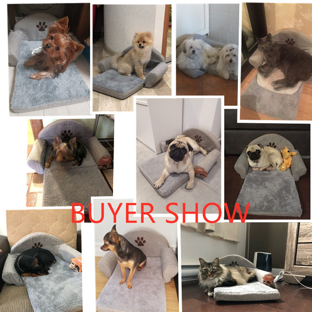 Pet Removable Dog Bed Four Seasons Gray Dog Sofa Dog Cat House Washable Pet Cushion For Pet bed Animals Pet Products 5