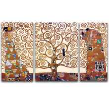 World famous painting tree of life by Gustav Klimt pictures for modern living room wall decoration canvas