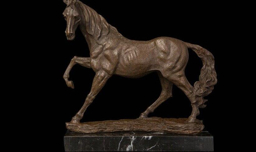 Art Deco Sculpture Steed Horse Bronze Statue