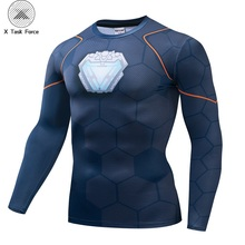 Long sleeve Avengers 3 Iron Man 3D Printed T shirts Men Compression Shirts Black Friday Top For Male Cosplay Costume Clothing happy friday панно botanic printed