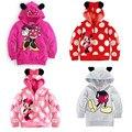 2017 nuevas muchachas de los cabritos hoodies ropa para niños con capucha sudaderas con capucha para niñas niños clothing cartoon outfit a158