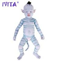IVITA WG1806RH 51cm 2900g bebe reborn doll full Silicone Lifelike girl baby juguetes eyes Closed sleeping Film Toys for Children