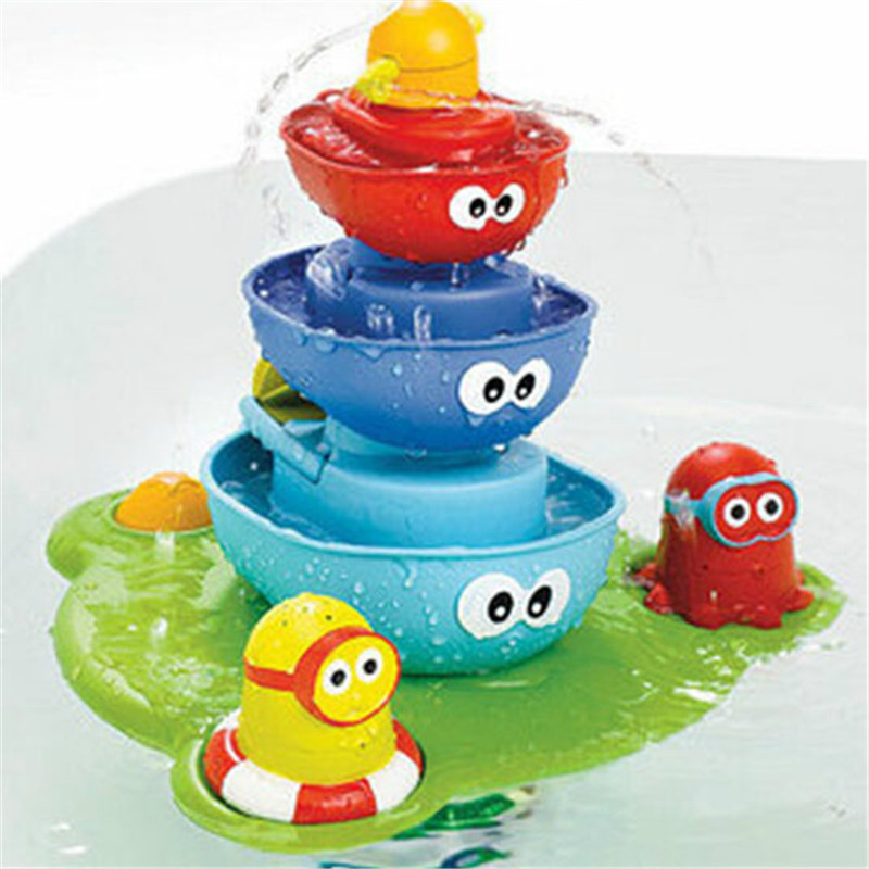 ФОТО 40*12*27cm baby bath toy for baby take bath playing water fountain toys safety and hurtless baby products supply