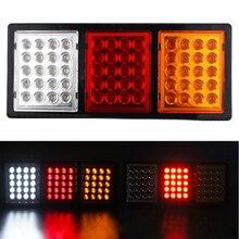 1 Pair 60 LEDs Car Rear Taillight Truck Caravan Trailer Stop Indicator Tail Lights 12V 24V