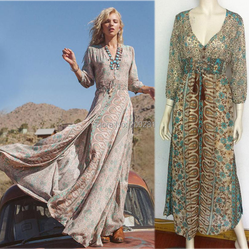 Boho maxi dresses cheap