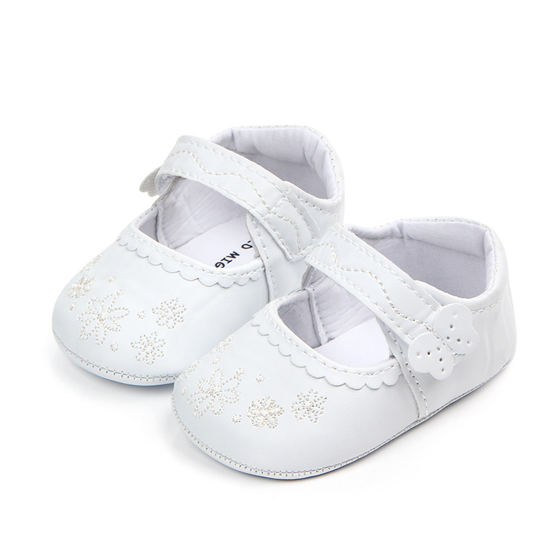 Infant Baby Girl First Walkers Spring Autumn Flower Newborn Shoes Soft Bottom PU Breathable Flattie Cute Toddler Girls Flat Shoe
