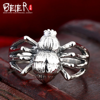 Beier 925 Silver Sterling Jewelry 2015 Punk Animal Ring Spider Modeling Man Ring D1107