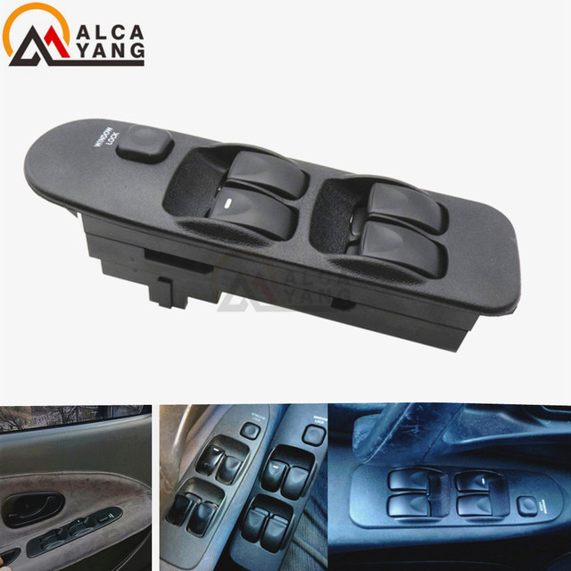 Top Quality For MITSUBISHI WINDOW SWITCH FRONT LEFT RIGHT MR740599 FOR MITSUBISHI CARISMA 5 BUTTONS FOR MITSUBISHI SPACE STAR