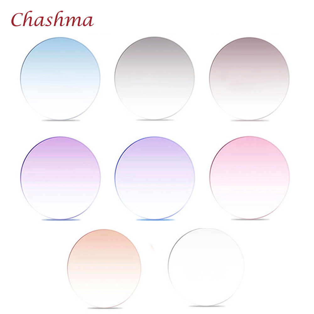 Chashma Brand Quality 1 67 index M7 Lenses Tint Prescription Myopia and Reading Recipe Color Lenses
