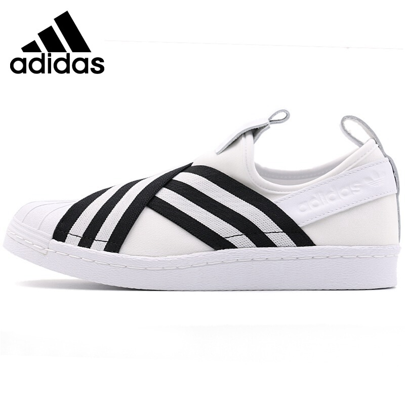 size 40 2a7af f4232 Original New Arrival 2018 Adidas Originals SUPERSTAR SLIPON W Womens  Skateboarding Shoes Sneakers-in Skateboarding from Sports  Entertainment  on ...