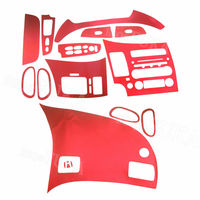Car Console Dashboard AC Air Vent Panel Sticker Decal For Honda Civic 2006 2011 Red/Purple