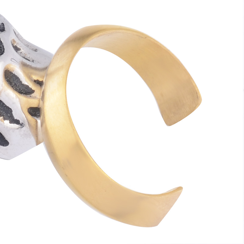 EdgLifU New Men Ring Bewegung Vintage Eröffnung Paar Band Ringe - Modeschmuck - Foto 6