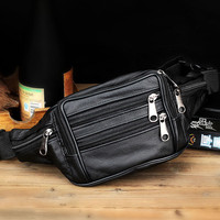 New Arrive Men Messenger Crossbody Bags Fashion Leather Business Waist Fanny Pack Bum Adjustable Belt Bag