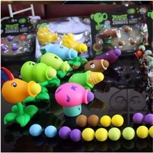 new New Popular Game Plants vs Zombies Peashooter PVC Action Figure Model Toys Vs For Baby Gift