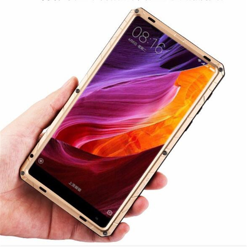 Outdoor Sports Daily Waterproof Shockproof Hard Metal Silicone Full Protection Phone Housing Case Cover For Xiaomi Mi Mix 2 MIX2