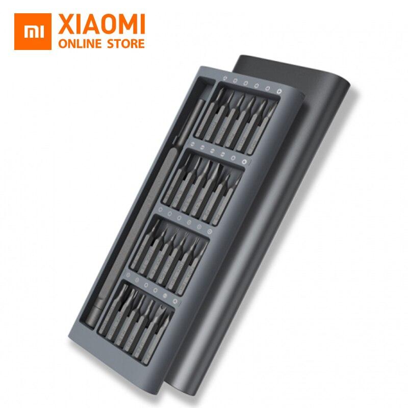Оригинальный xiaomi Mijia Wiha ежедневно Применение отвертка комплект 24 точность магнитные биты AL коробка отвертка xiaomi умный дом Комплект 2017