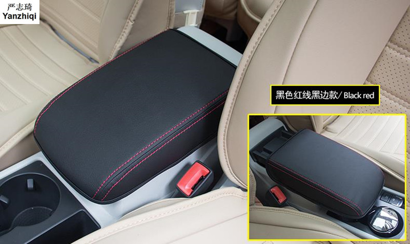High Quality Microfiber leather Armrest box Cover Protective sleeve Protective film For VW Volkswagen 2016 2017 2018 TOURAN