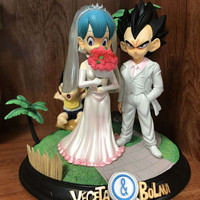 Anime Dragon Ball Figures Trunks Vegeta and Bulma Wedding ver. PVC action figure collection model toy