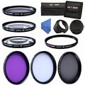 55mm Macro Close Up+1+2+4+10 Set+UV CPL FLD Filter Kit Lens Hood Cap For Sony A6000 A6300 For Canon Nikon DSLR Camera Filter Bag