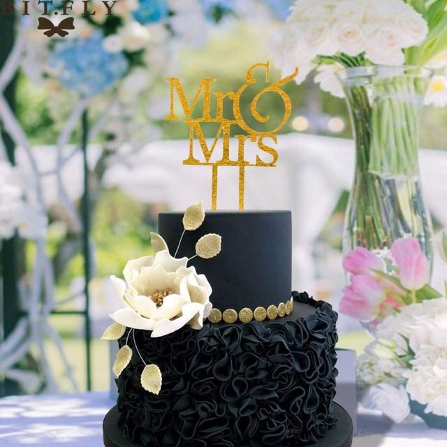 Wedding Cake Decorating Supplies Mr And Mrs Initial Cake Topper