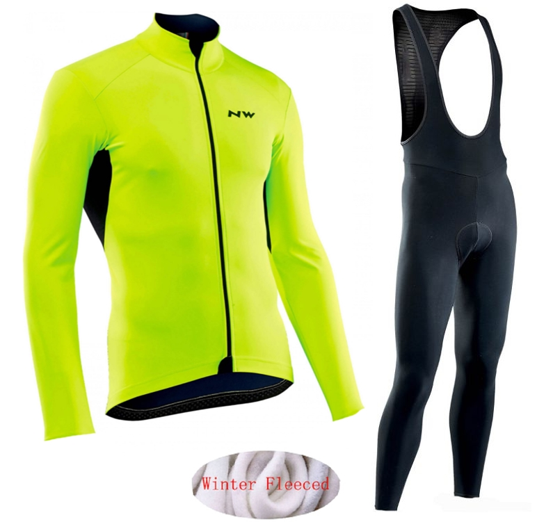 Northwave 2019 Winter thermal fleece Set Cycling Clothes NW men's Jersey suit Sport riding bike MTB clothing Bib Pants Warm sets-in Cycling Sets from Sports & Entertainment